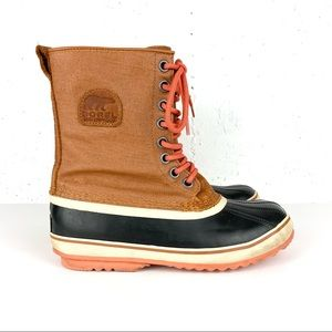 Sorel 1964 Premium Waterproof Snow Boots Caramel and Nectar Size 9